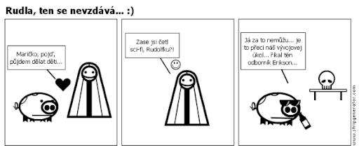 Komiks Vesnička - Rudla, ten se nevzdává