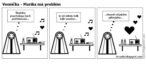 Komiks Vesnička - Marika potřebuje psychologa