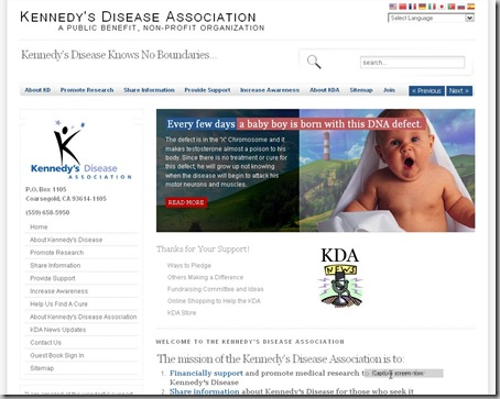 KDA Website Home Page