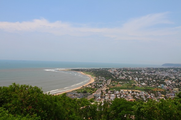 Bird's View of Vizag City
