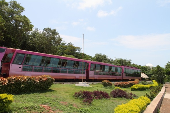 Tourist Train that gives a Kailashgiri Tour