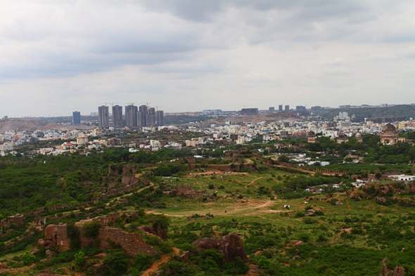 Hyderabad City View from the top of Golconda Fort