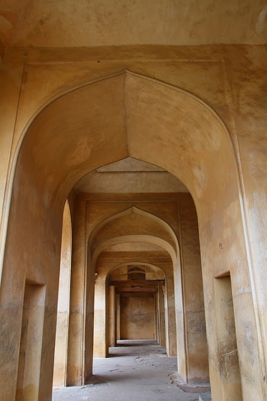 Corridors at Golconda Fort