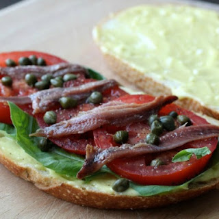Anchovy, Basil, and Tomato Sandwiches with Aioli