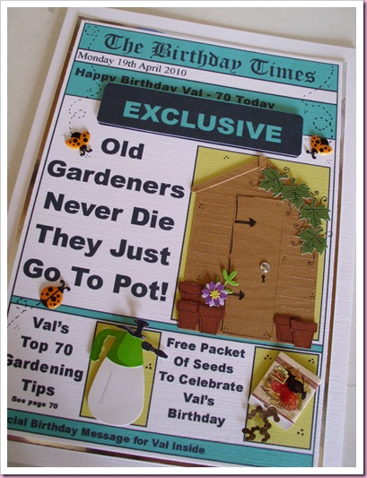 Its All Fiddle Fart Two Gardening Birthday Cards
