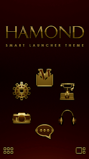 Smart Launcher theme HAMOND Screenshot