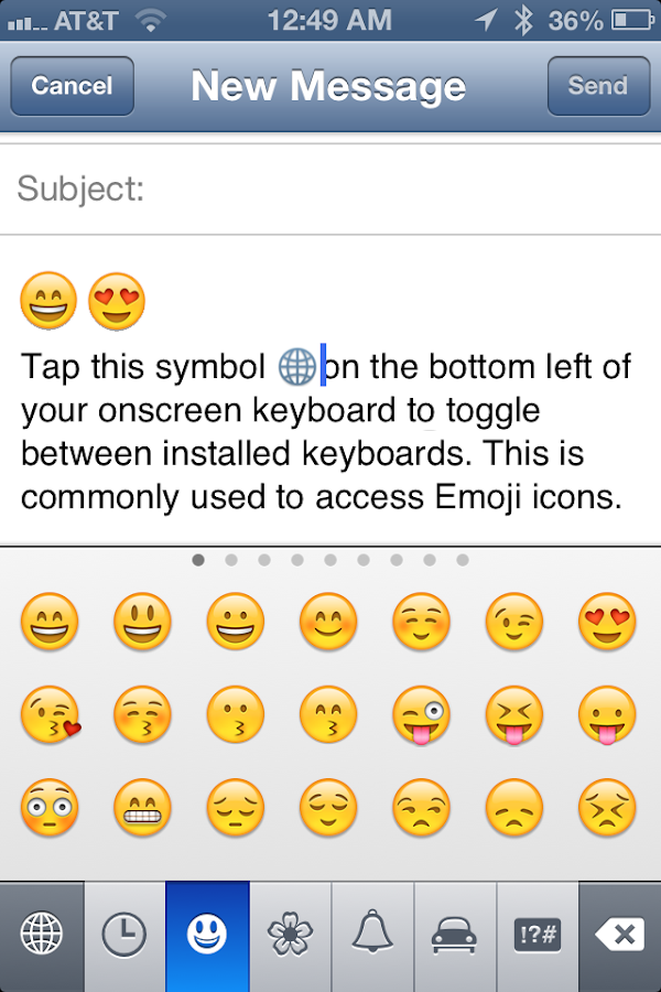 Emoji Emoticons Keyboard - screenshot