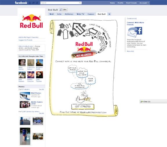 Pagina de Facebook de Red Bull