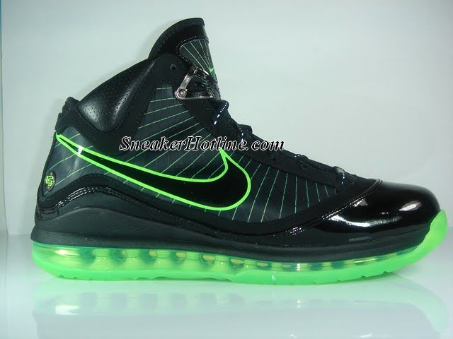 the latest 9bbd8 515c4 Nike Air Max LeBron VII Black Mean Green – Dunkman Edition   NIKE LEBRON -  LeBron James Shoes