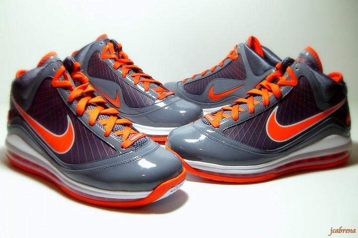 de6e1b18696a0 Releasing Now  Nike LeBron 7 Grey   Orange Eastbay Exclusive