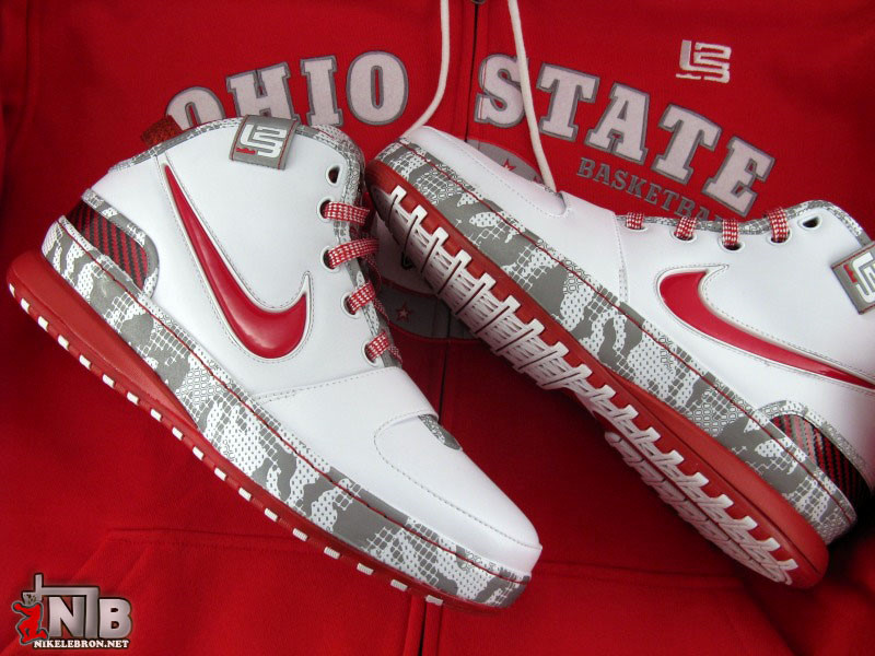 promo code 85fe7 9241e Ohio State Buckeyes Nike Zoom LeBron VI aka Home 8220PE8221 Showcase ...