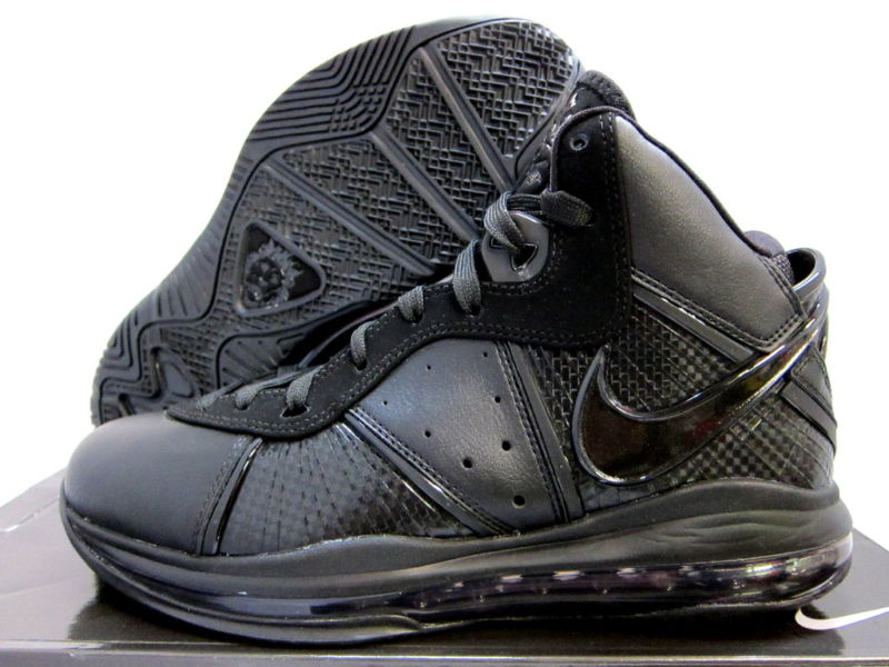 c18e1184f436 Closer Look at Nike LeBron 8 417098-001 Black Black-Anthracite ...