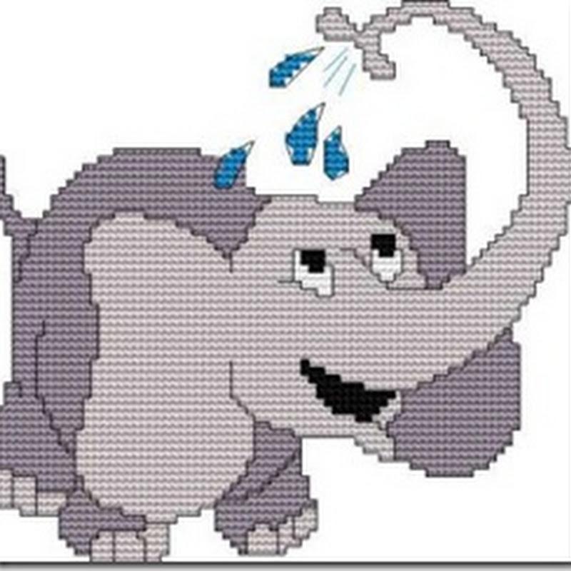 abecedario Elefante punto de cruz