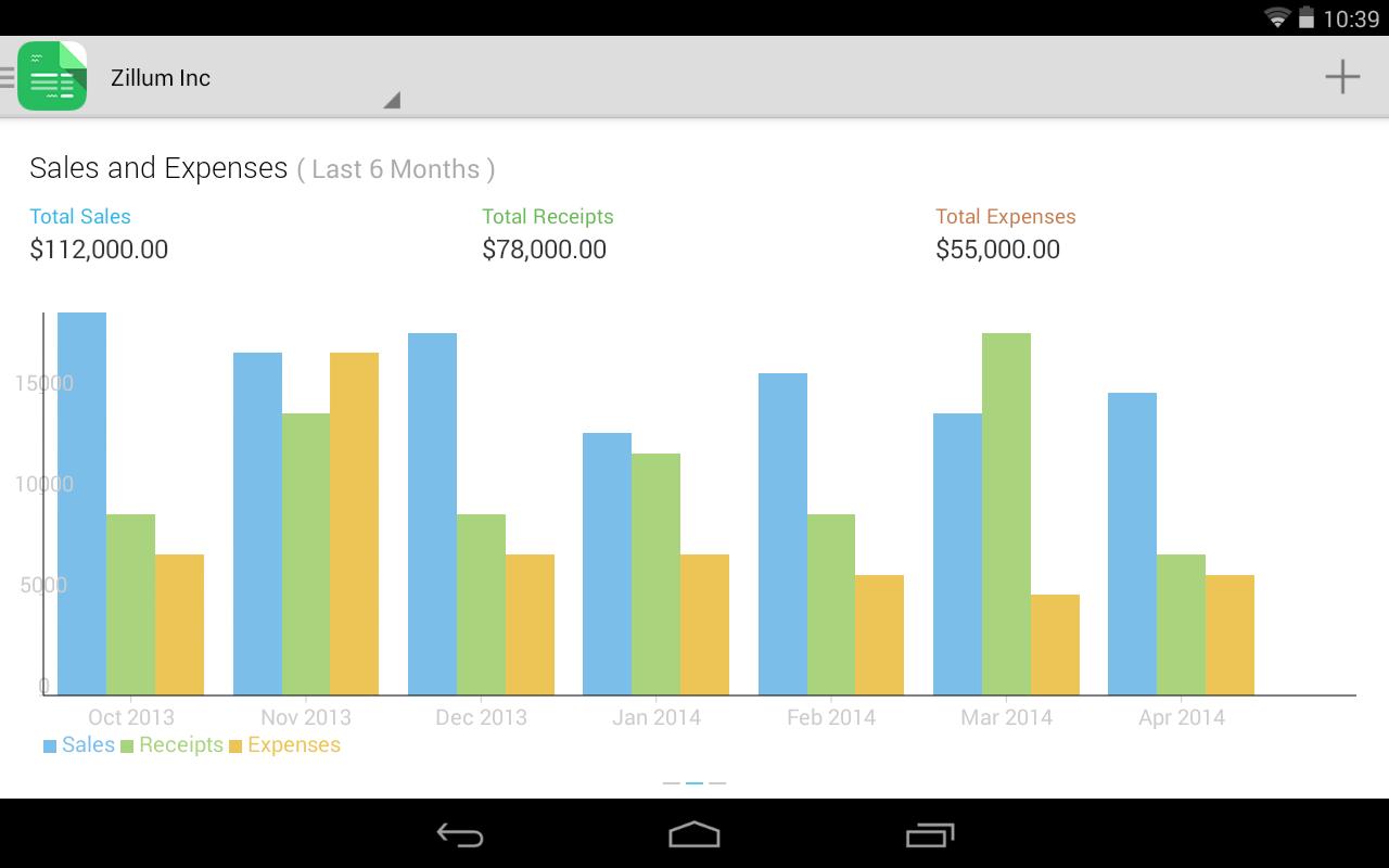 Zoho Invoice and Time Tracking - screenshot