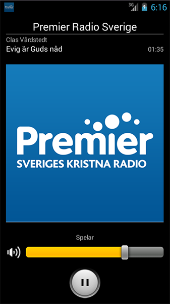 Premier Radio Sverige- screenshot