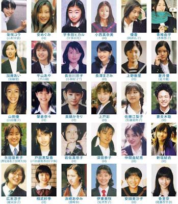 日本明星的学生照