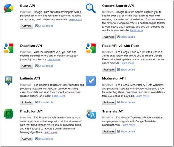 Google Code: Google Code API Console