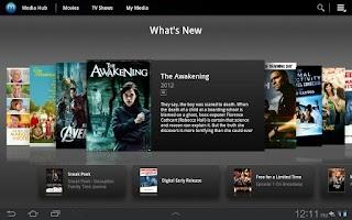 Screenshot of Media Hub Samsung Sprint
