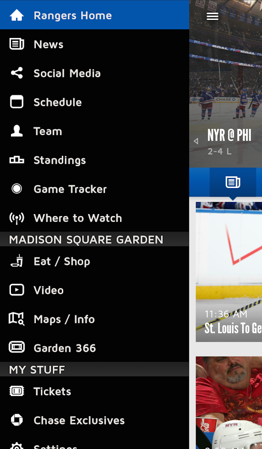 Official New York Rangers App- screenshot