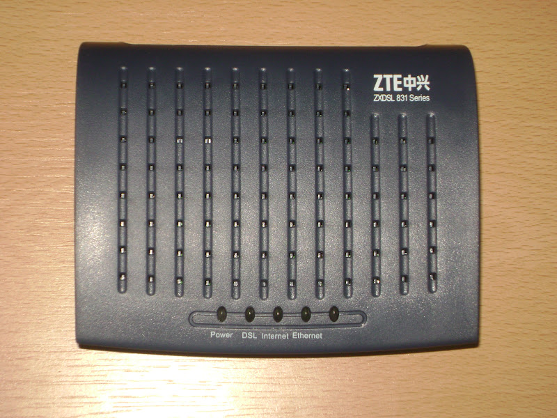 software modem zte zxdsl 831