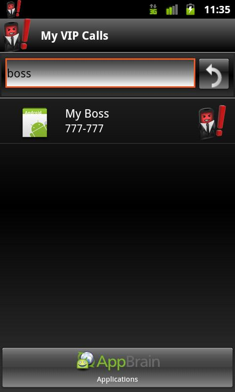My VIP Calls - screenshot