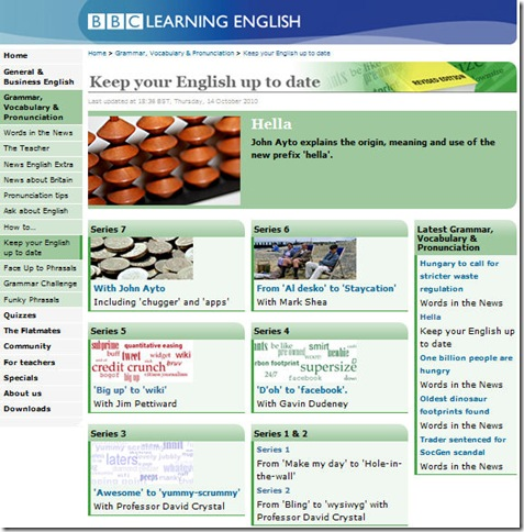 BBC Learning English - Keep your English up to Date 1 ...