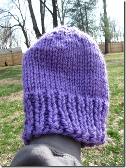 Knitted Flat Hat, free pattern (easy)
