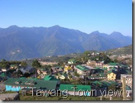 view of tawang town