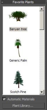 Foliage - Árboles - Curso 3D Studio Max