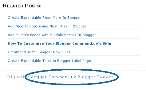 customized related posts widget