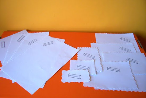 hojas decoradas para cartas