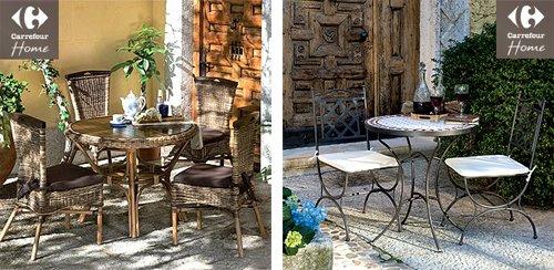 muebles para exterior y jardin de carrefour home