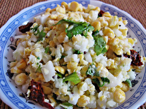 Bengal Gram Cucumber Salad Kosambari