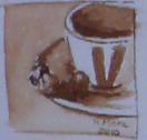 cafe, coffe, monocolor, aquarel?la, acuarela, watercolor, rmora