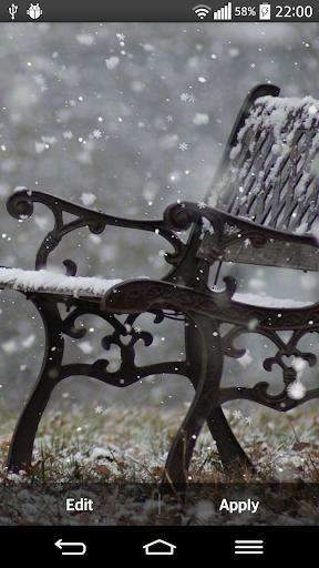 降雪ライブHDの壁紙