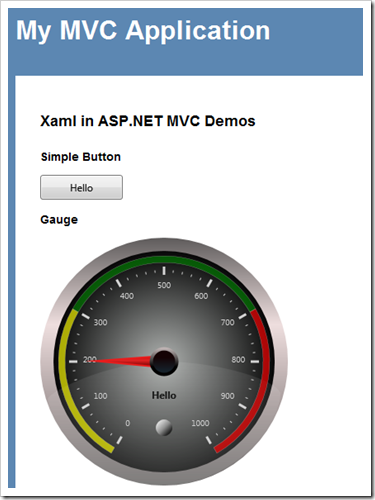 Rendering a Xaml Gauge Control (and other WPF Controls) in ASP NET MVC