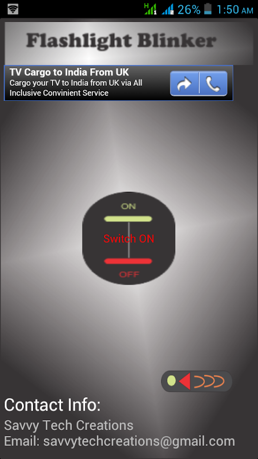 FlashLight Blinker- screenshot
