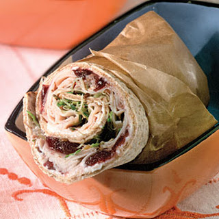 Turkey-And-Chutney Pita Wraps.