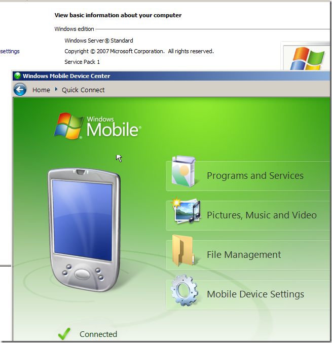 The Wolf Bytes: Windows Mobile Device Center and Windows