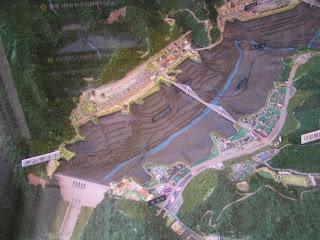 建設予定地周辺の模型