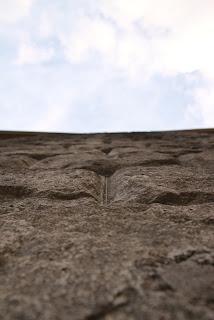 石貼りのアップ