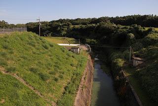 下流の橋よりさらに下流を望む