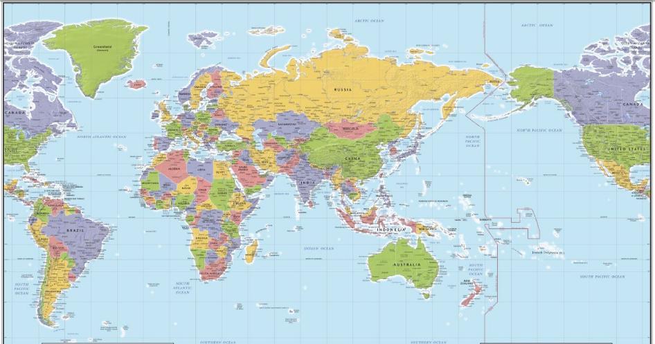 Mapa Del Mundo China.Laowai En Shanghai Por Que China Es El Centro Del Mundo