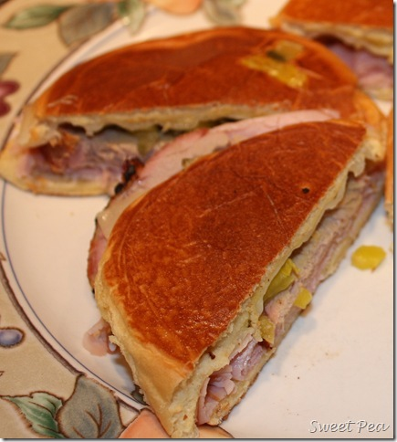 Cuban pressed pork sandwich