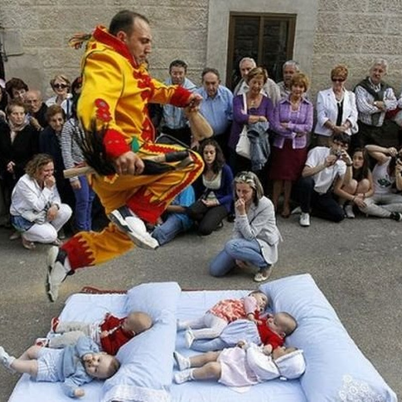 The Spanish Baby Jumping Festival of El Colacho