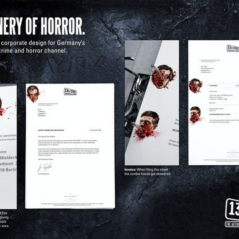 Stationery of Horror: Creative Stationary Designs