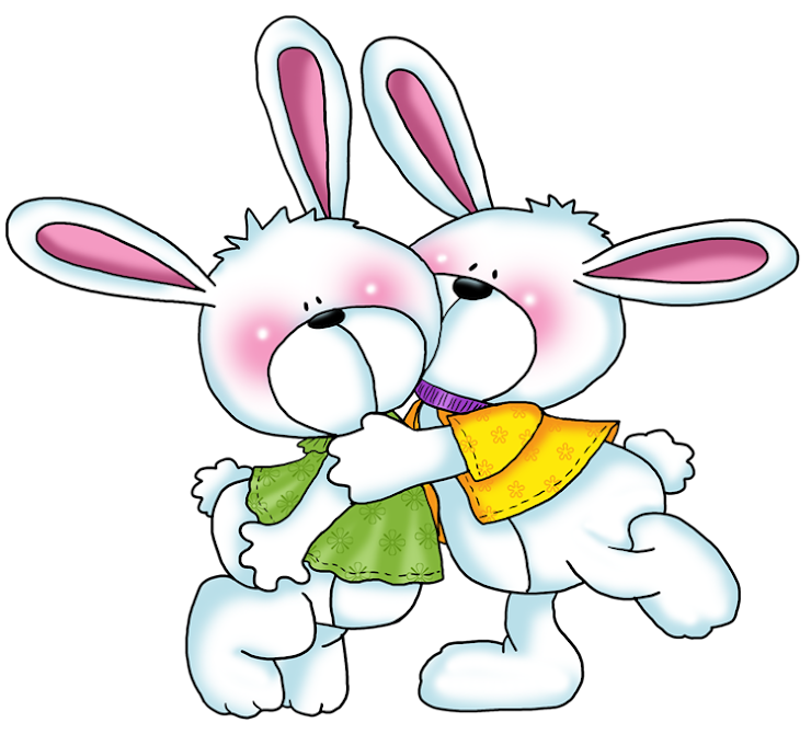 Imagem Para Face Dois Coelhinhos Da Páscoa Se Abraçando