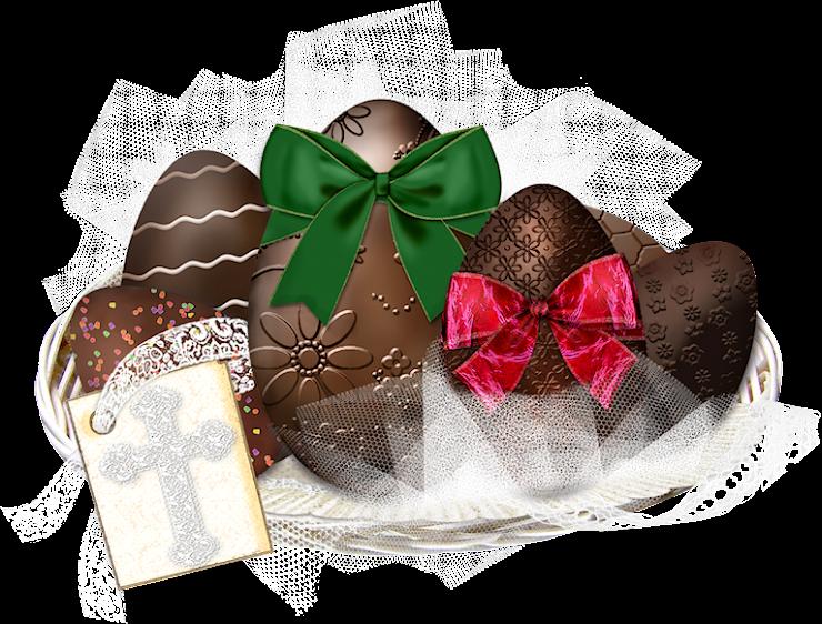 Imagem Para Face Ovos De P 225 Scoa De Chocolate Na Cesta Com