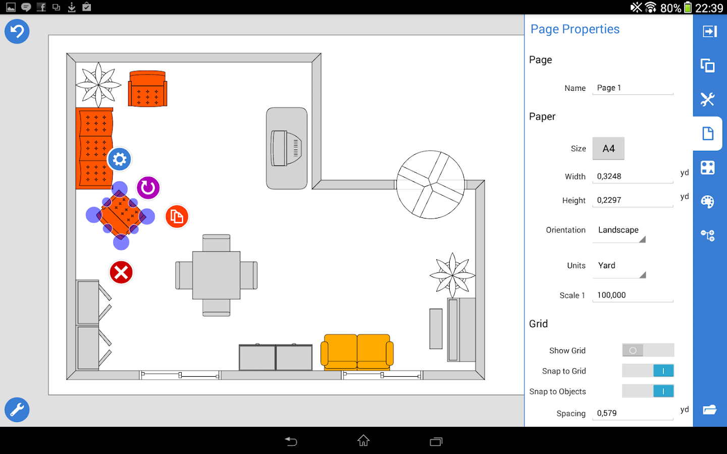 Grapholite floor plans android apps on google play for Office floor plan software