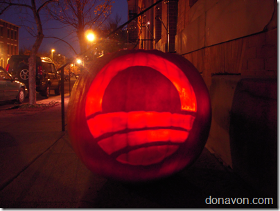 Obama Halloween Pumpkin